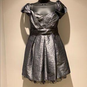 Bcbg Generation Pewter Off Shoulder Dress